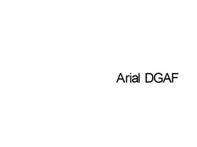 Arial DGAF rebound typography arial
