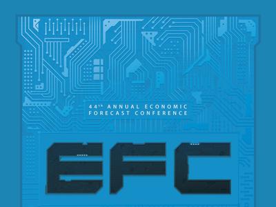 Economic Forecast circuitboard illustration gradients circuits