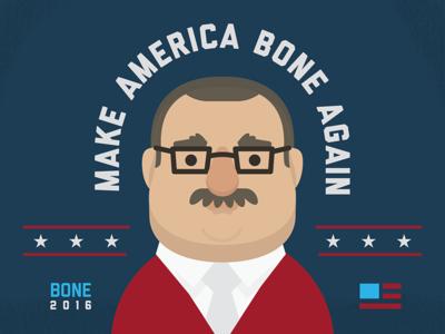 Ken Bone for President murica america elections politics bone kenneth ken illustration character