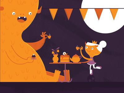 Seattle Monster Mash 23/31 princess tea party halloween illustration seattle monster mash seattlemonstermash