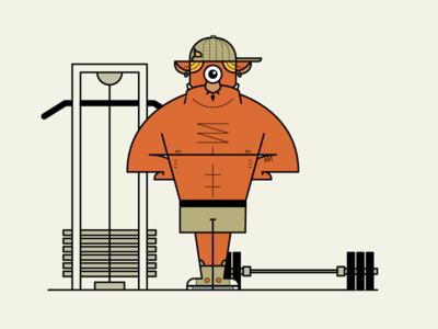 Seattle Monster Mash 29/31 fitness weights monster gym halloween illustration seattle monster mash seattlemonstermash