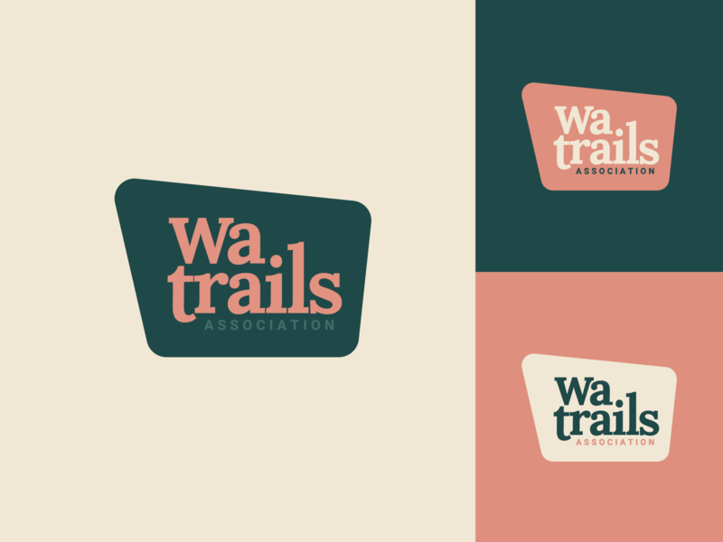 Washington Trails Association identity outdoor branding logo hiking association trail