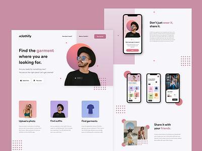 Clothify app branding design