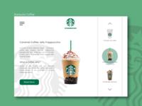 Concept of Starbucks website