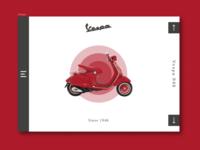 Concept of Vespa website