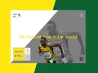 Concept of Usain Bolt website
