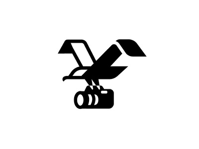 Bird+Camera symbol mark logo identity icon experiment bird arabic