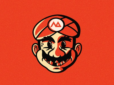 Egyptian retro mario 2d avatar game art charachter design illustration mario retro