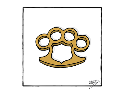 Police Brutality brass knuckles protesters police police brutality politics political cartoon