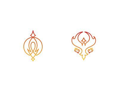 Phoenixes bird lineart logo phoenix