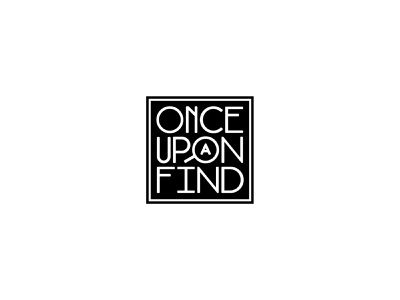 Once Upon A Find magnifying glass typography logo
