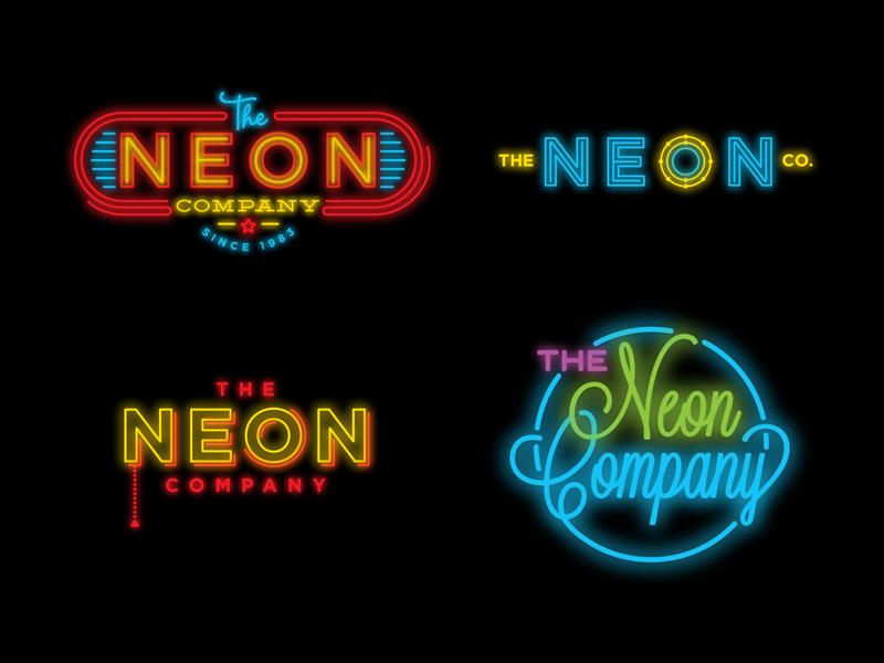 The Neon Company logo neon sign retro