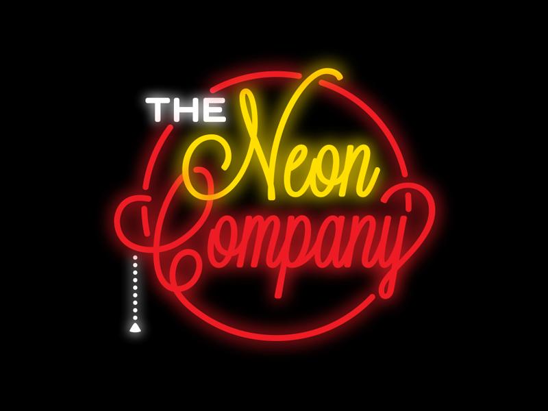 The Neon Company Rebound logo neon sign retro typography