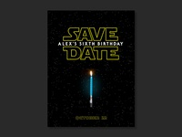 Star Wars Save The Date