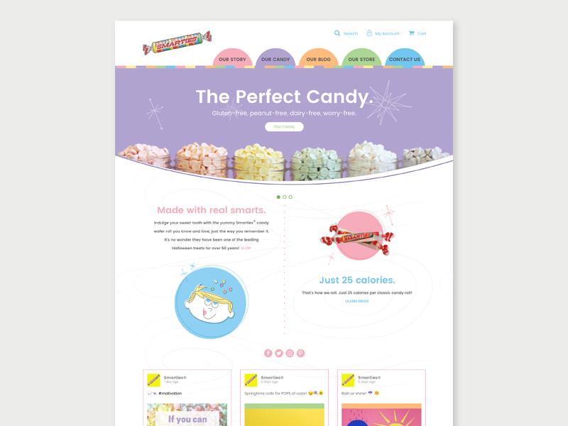 Smarties design website candy smarties