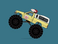 Pizza Planet Monster Truck