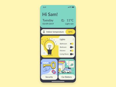 daily ui 21 Home Monitoring Dashboard