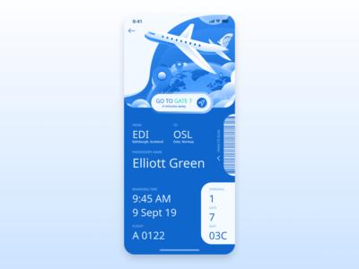 daily ui 24 boarding pass