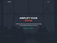 Twibble Homepage Design