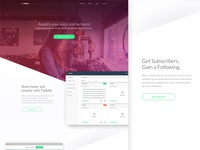 Homepage Redesign for Twibble