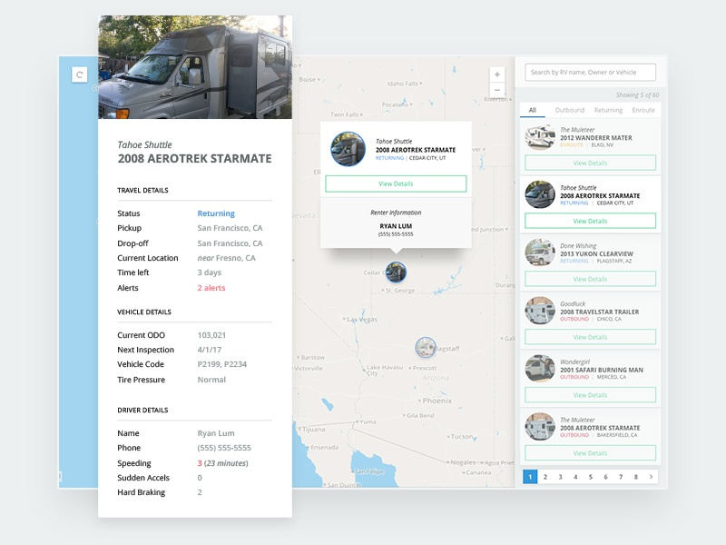 Map Vehicle Tracking Card [WIP] by Ryan Lum on Dribbble