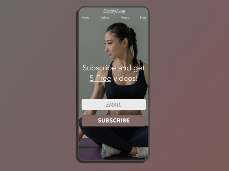 DailyUI  #026-Subscribe yoga mobile web minimal dailyui026 dailyui typography adobexd ui design practice