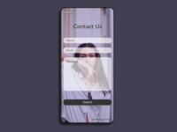DailyUI  #028-Contact Us mobile app design ecommerce fashion contactus dailyui028 dailyui typography adobexd design ui practice