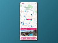 DailyUI #029-Map nyc map mobile minimal dailyui029 dailyui typography adobexd ui design practice