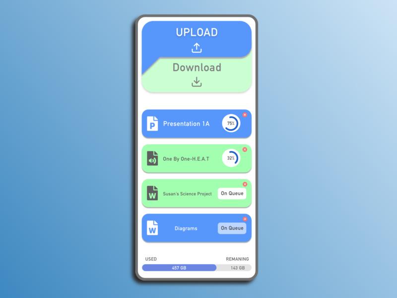 DailyUI #031-File Upload uploading file app mobile app design dailyui031 dailyui typography adobexd design ui practice