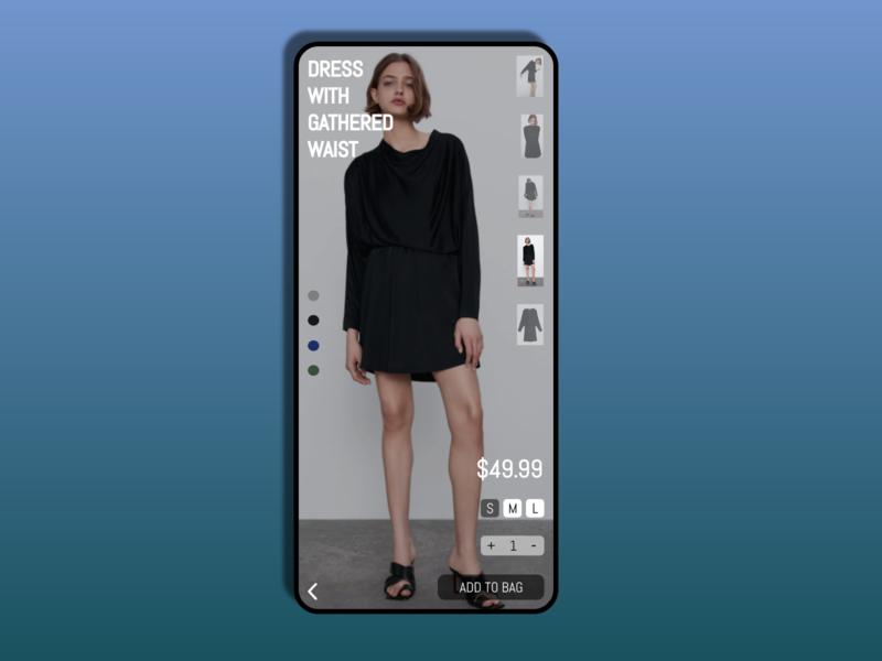 DailyUI #033-Customize clothing fashion ecommerce dailyui033 mobile typography adobexd ui design practice