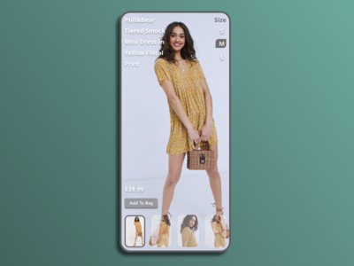 Women's Clothing Ecommerce ecommence fashion mobile minimal typography adobexd design ui practice