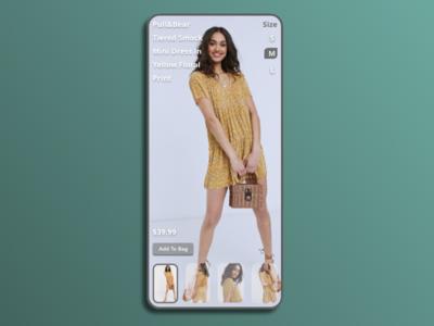 Women's Clothing Ecommerce ecommence fashion mobile minimal typography adobexd design ui practice