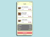 Cart Screen color takeout food app mobile minimal ux app design typography adobexd design ui practice