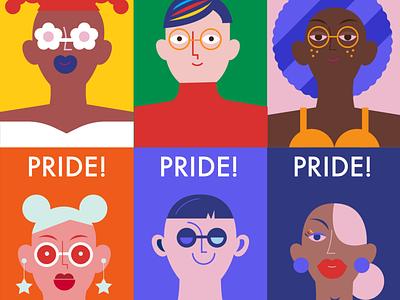 Happy Pride! gaypride gay rights illustration diversity pride lgbtq gay