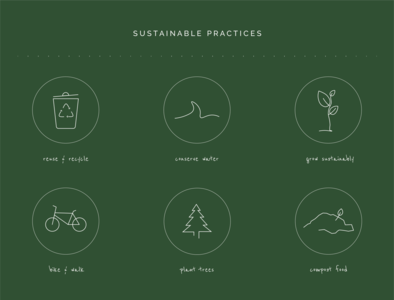 Icons for Sustainable Practices