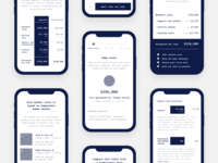 Mobile offer design wireframes