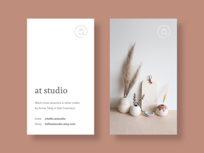 at studio business cards