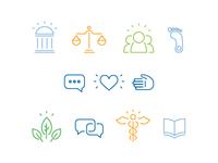 student wellness icons
