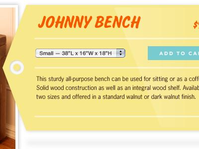 Johnny tag yellow gotham news gothic salsbury furniture