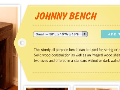 Johnny 2 gotham news gothic furniture salsbury tag yellow