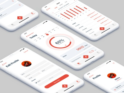 iOS Fitness App UI Design ios app ux design ui