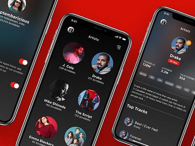 Last.fm iOS app redesign. branding design app ios ux ui last.fm lastfm