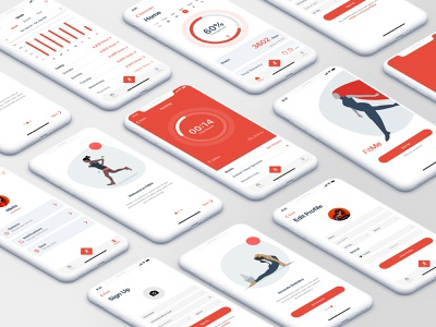 Fitness app for IOS ios design app ux ui branding illustration