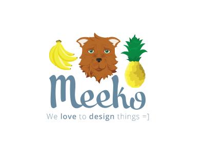 Meeko illustration custom type typography logo branding