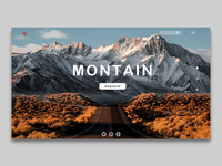 landing page of travel to montain