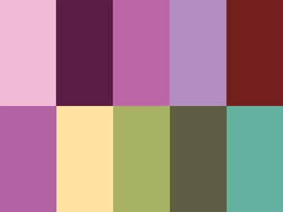 Radiant Orchid Palettes