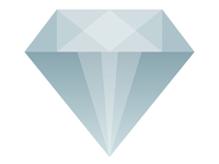 Semi-Flat Diamond Icon