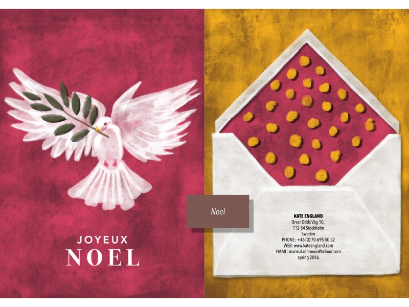 Stationery christmas card envelope