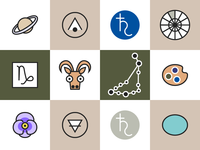 Horoscope Icons Capricorn