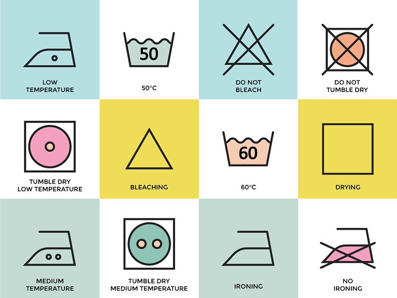 Clothing Care Apparel Instructions By Kate England Dribbble